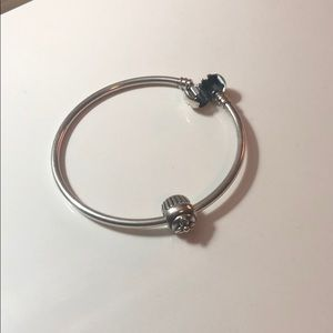Pandora bracelet with charm.